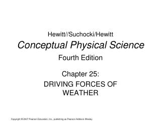 Hewitt//Suchocki/Hewitt Conceptual Physical Science  Fourth Edition