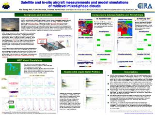 Satellite and in-situ aircraft measurements and model simulations of midlevel mixed-phase clouds