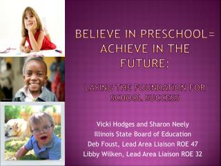 Believe in Preschool= Achieve in the Future:  Laying the Foundation for School Success