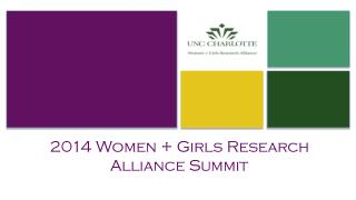 2014 Women + Girls Research  Alliance Summit