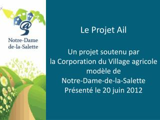 Le Projet Ail