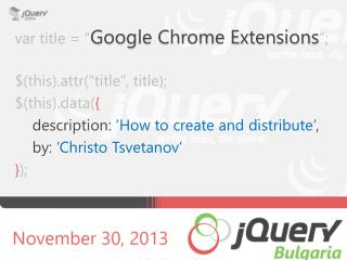 "var title =  "" Google Chrome Extensions "";"