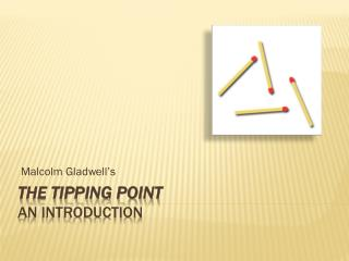 The Tipping point An introduction