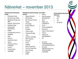 Nätverket –  november  2013
