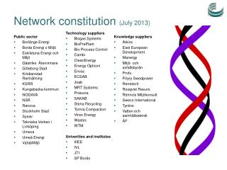 Network constitution ( July  2013)