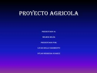 PROYECTO AGRICOLA
