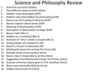 Science and Philosophy Review