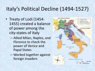 Italy's Political Decline (1494-1527)