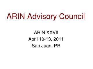 ARIN Advisory Council