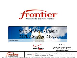 State of West Virginia   MPLS Support Model