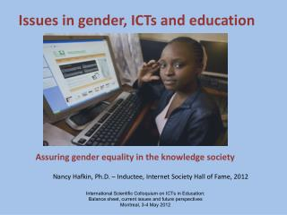 Issues in gender, ICTs and education