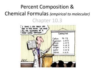 Percent Composition &  Chemical Formulas  (empirical to molecular) Chapter 10.3