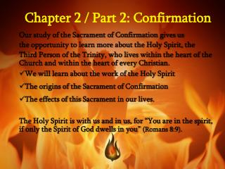 Chapter 2 / Part 2: Confirmation