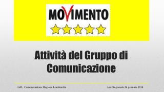 Attività del Gruppo di Comunicazione