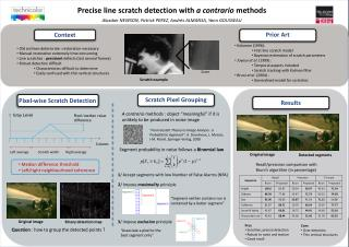 Precise line scratch detection with  a  contrario methods