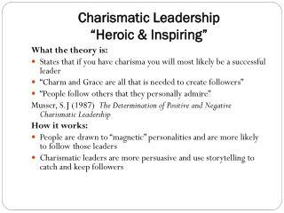 "Charismatic Leadership ""Heroic & Inspiring"""