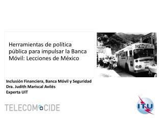 Herramientas de política pública para impulsar la Banca Móvil: Lecciones de México