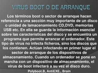 Virus  boot  o de arranque