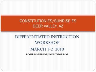 CONSTITUTION ES/SUNRISE ES DEER VALLEY, AZ