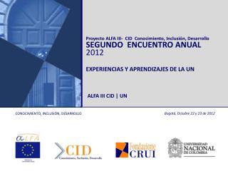 Bogotá, Octubre 22 y 23 de 2012