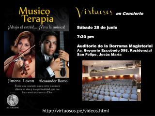 en Concierto Sábado 28 de junio 7:30 pm