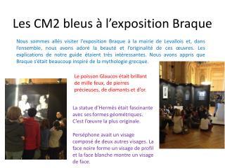 Les CM2 bleus à l'exposition Braque