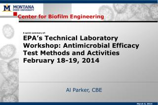 Center for  Biofilm  Engineering