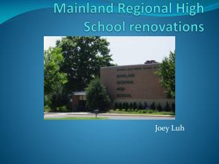 Mainland Regional High School renovations