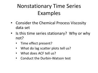 Nonstationary  Time Series Examples