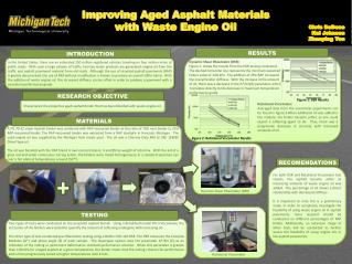 Improving Aged Asphalt Materials  with Waste Engine Oil