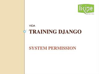 Training  django