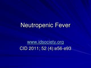 Neutropenic Fever