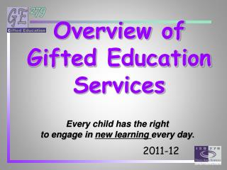 Overview of Gifted Education Services