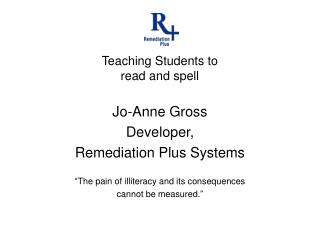 Teaching Students to read and spell