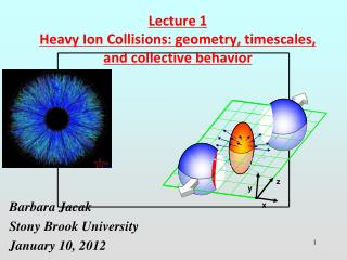 Lecture 1 Heavy Ion Collisions: geometry, timescales, and collective behavior