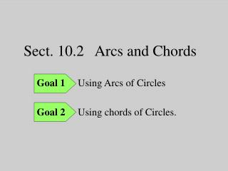 Sect. 10.2   Arcs and Chords