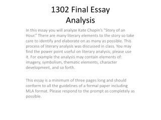 1302  F inal Essay Analysis