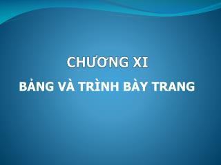 CH??NG XI