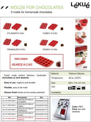 MOLDS  FOR CHOCOLATES