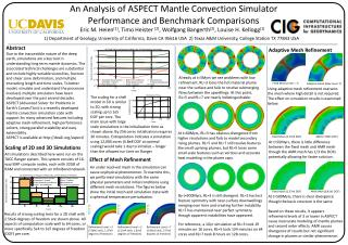 An Analysis of ASPECT Mantle Convection Simulator Performance and Benchmark Comparisons