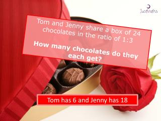 Tom has 6 and Jenny has 18