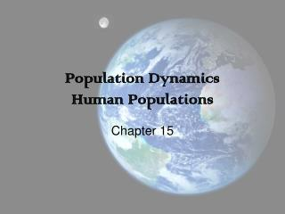 Population Dynamics Human Populations