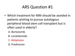 ARS Question #1