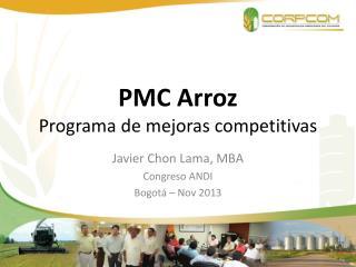 PMC Arroz Programa de mejoras competitivas