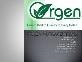 Orgen  nutraceuticals