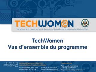 TechWomen  Vue d'ensemble du programme