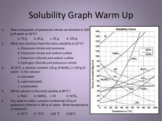 Solubility Graph Warm Up