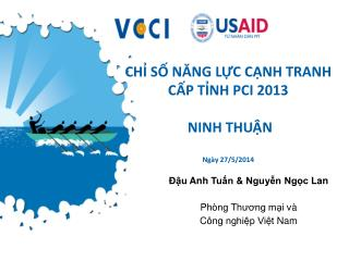 CHỈ SỐ NĂNG LỰC CẠNH TRANH CẤP TỈNH PCI 2013  NINH THUẬN  Ngày 27/5/2014