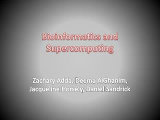 Bioinformatics and Supercomputing