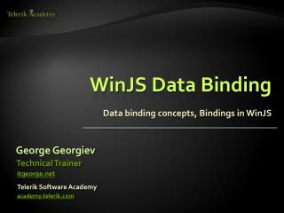 WinJS  Data Binding